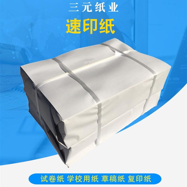 三元60g16k加厚刀切纸双胶纸复印纸(箱)