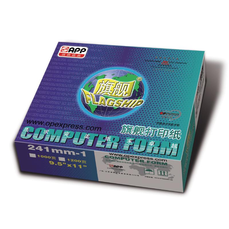 旗舰241-1电脑打印纸60g/1000页/箱(单位:箱)