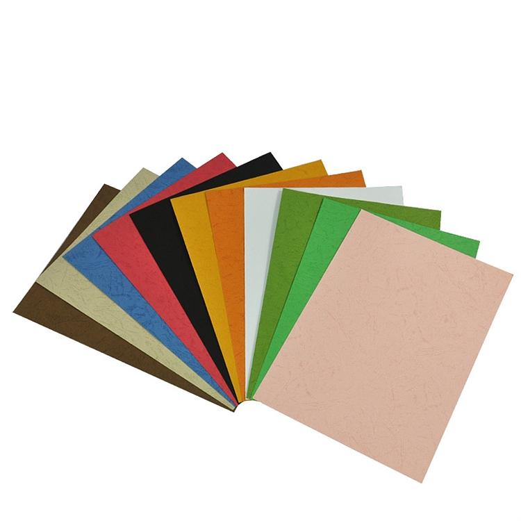 优玛仕A4皮纹纸装订封面浅蓝色100张/包(包)
