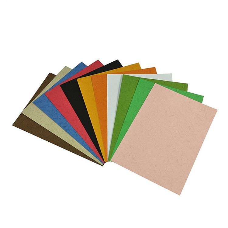 优玛仕A4皮纹纸装订封面深蓝色100张/包(包)