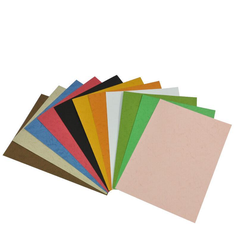优玛仕A4皮纹纸装订封面粉红色100张/包(包)