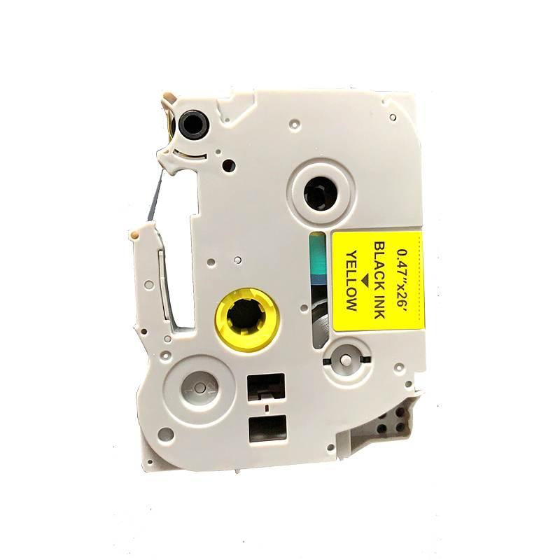 腾立达TZe-231标签色带架RD-BR TZ231P白底黑字10个/套(套)适用兄弟标签机