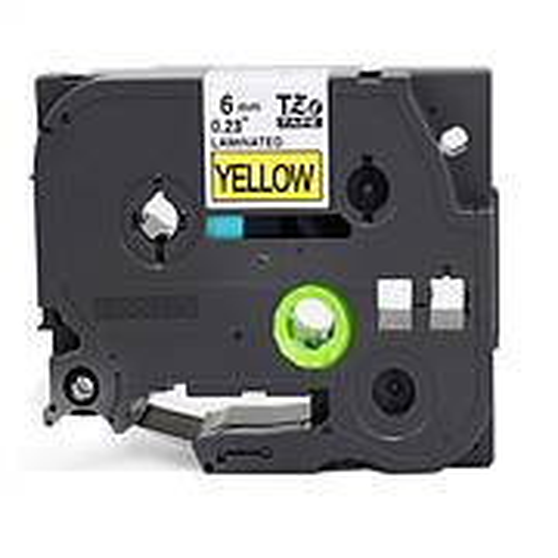兄弟原装标签打印机标签带标签纸黄底黑字12mm(个)