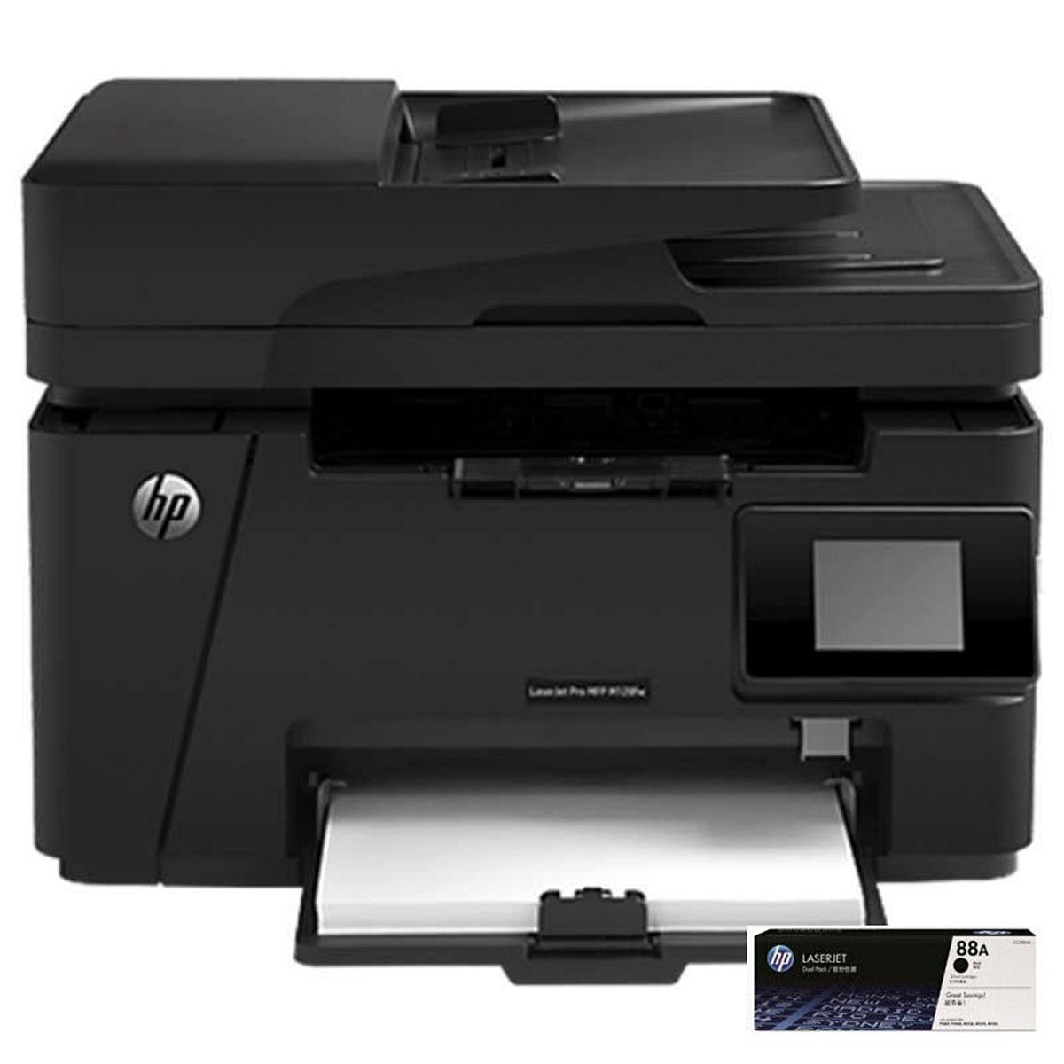 惠普(HP) M128fw 黑白激光一体机A4(打印/复印/扫描/传真)(台)