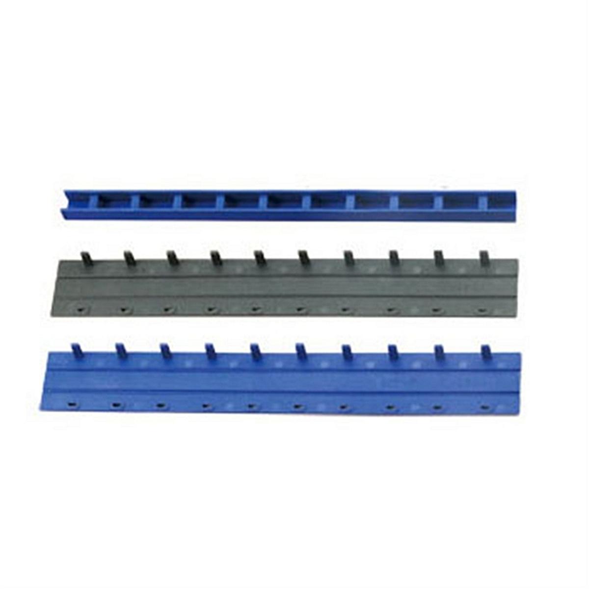 得力3829-10孔装订夹条(蓝)300*15mm(100支/盒) 装订条