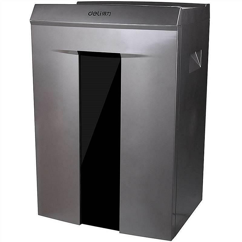 得力 9906 碎纸机 400x310x628mm (单位:台) 金属灰