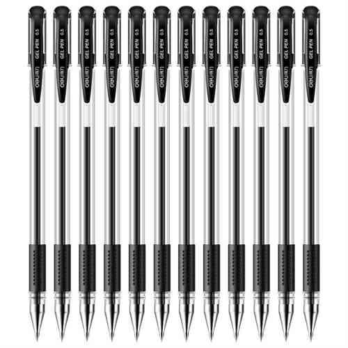 得力 6600 中性笔 0.5mm  12支/盒(单位:盒) 黑