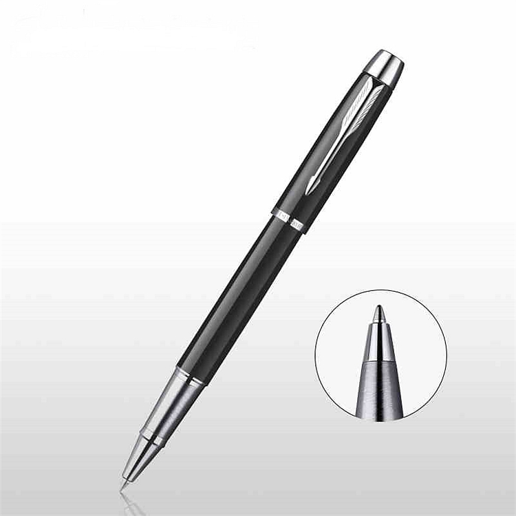 派克 IM系列 0.7mm磨砂黑杆白夹宝珠笔 (单位:支) 黑