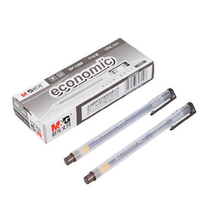 晨光GP1280 磨砂杆葫芦头0.5mm签字笔12支/盒(单位:盒)
