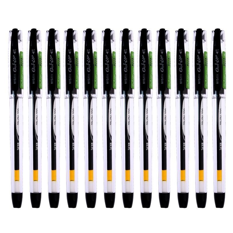 晨光文具0.7mm黑色中性笔K39 黑色 12支/盒(单位:支)