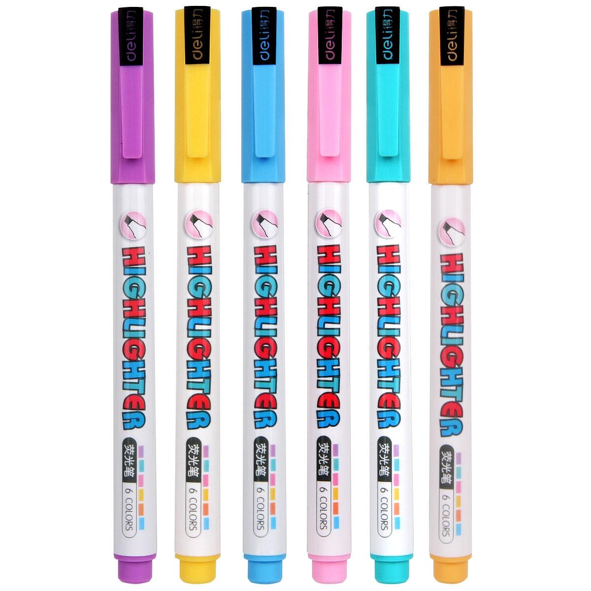 得力S602荧光笔(粉色)(12支/盒)