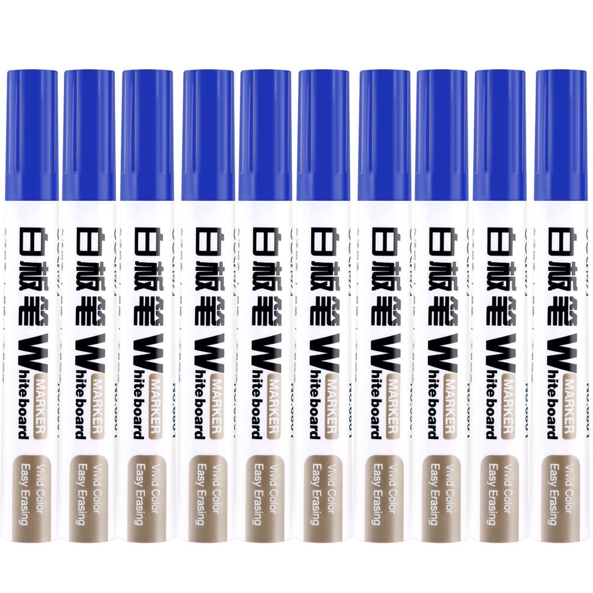 得力 6801 白板笔 2.0mm 10支/盒 (单位:支) 蓝色