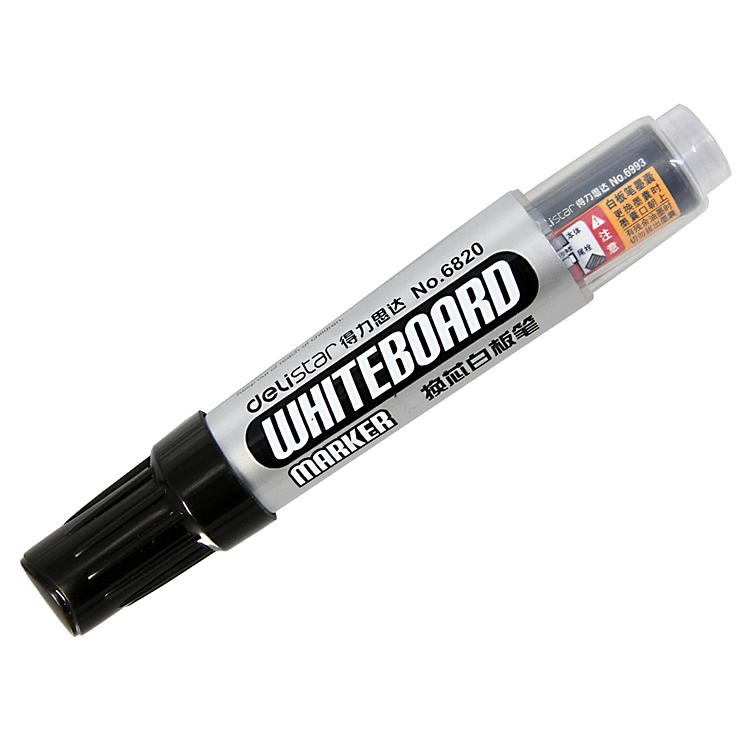 得力 6820 换芯白板笔 2.0mm 10支/盒 (单位:支) 黑色