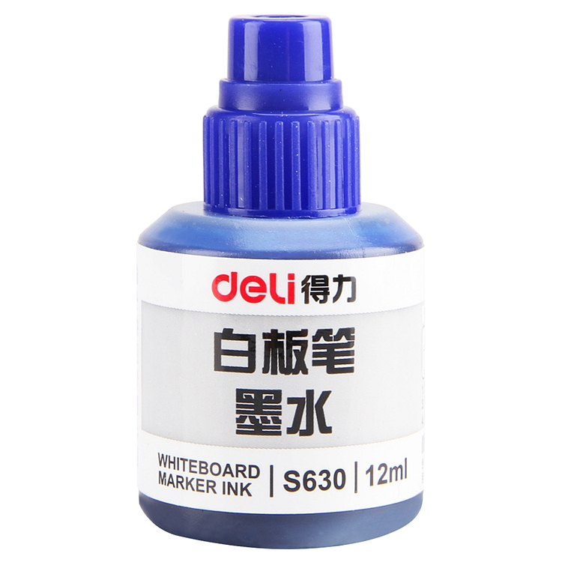 得力 S630 白板笔墨水 12ml 20瓶/盒 (单位:瓶) 蓝色