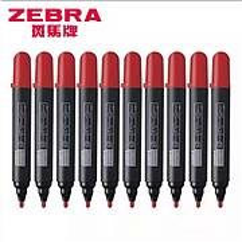 斑马牌可擦写白板笔YYR1大号红色10支装(盒)(北京专供)
