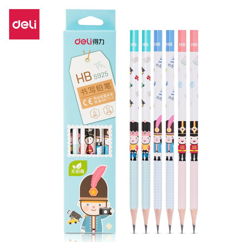 得力 S925 铅笔 HB 12支/盒 (单位:盒) 原木色