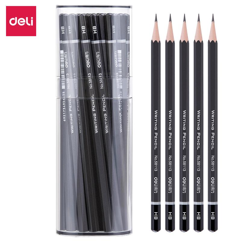 得力58114-HB高级书写铅笔(灰)(50支)(单位:筒)