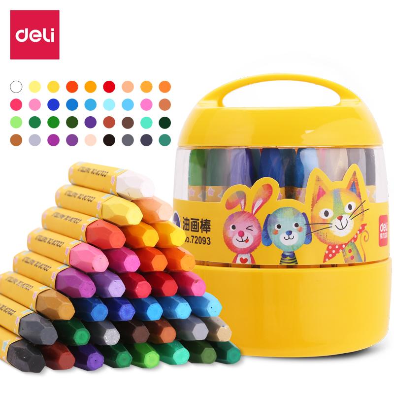得力(deli)72093_36色桶装油画棒(单位:桶)混