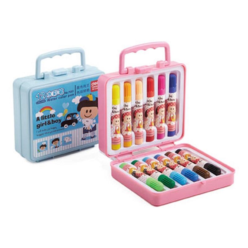 得力 7051 水彩笔 12支/盒 (单位:盒) 12色