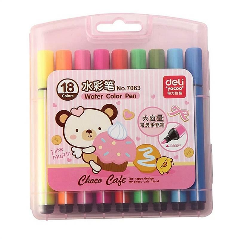 得力 7063 水彩笔 18支/盒 (单位:盒) 混色