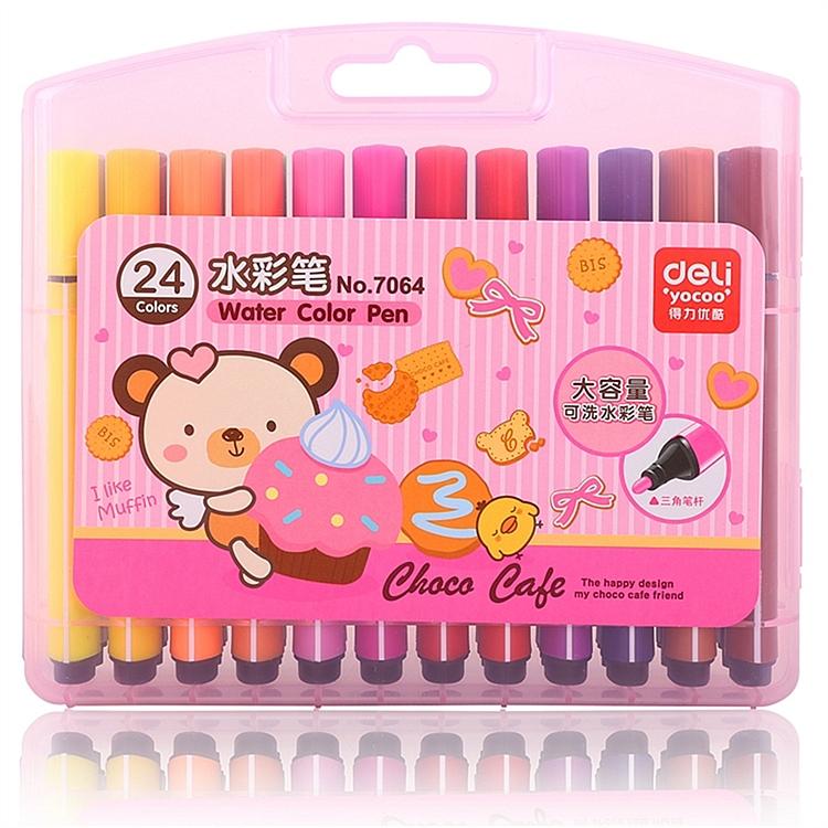 得力 7064 水彩笔 24支/盒 (单位:盒) 24色