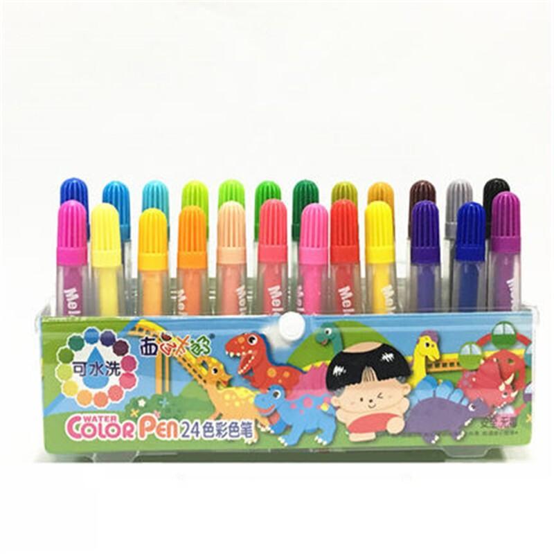 西瓜太郎24色水彩笔 大容量粗笔头水彩笔 (套)