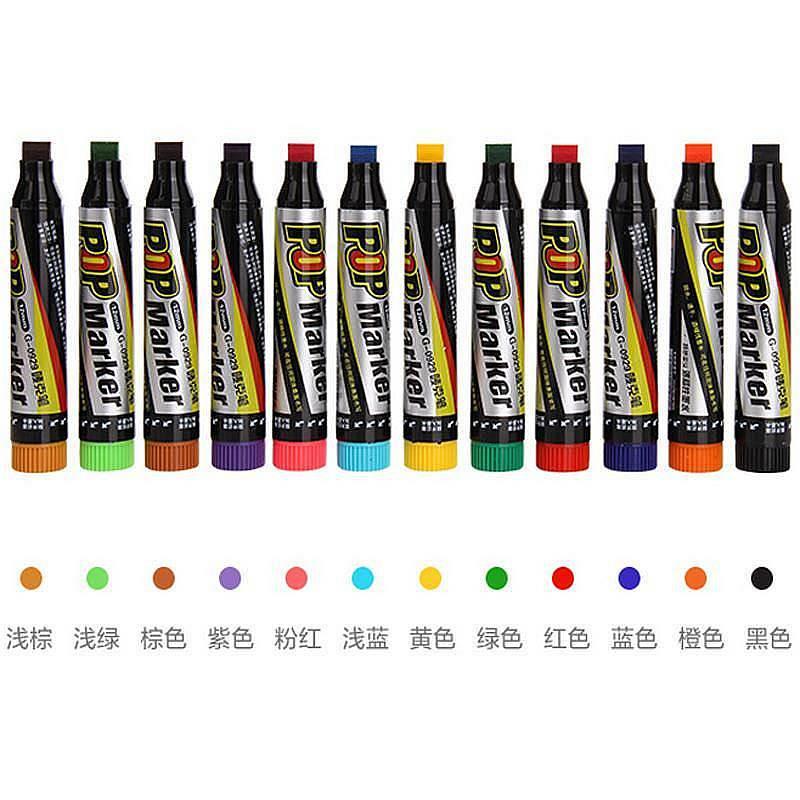 金万年G-0929 12mm马克笔 唛克笔 海报笔 POP笔 12色/盒 (单位:盒)