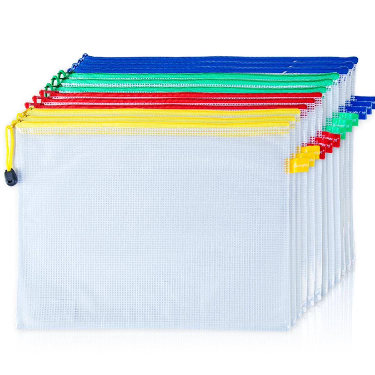 广博P6001-1/A4网格PVC拉链袋12只/包(包)