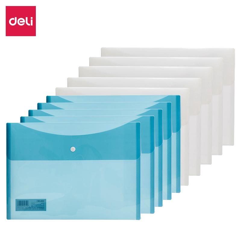 得力 5522 横式按扣文件袋 (单位:只) 混色
