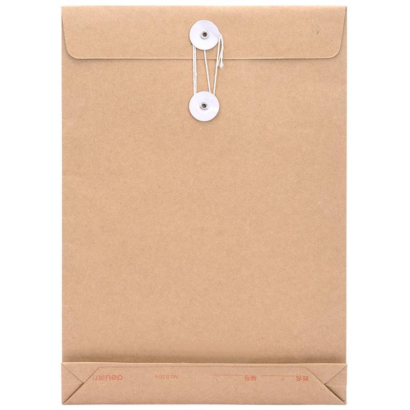得力8384档案袋(黄)(10个/包)(单位:包)