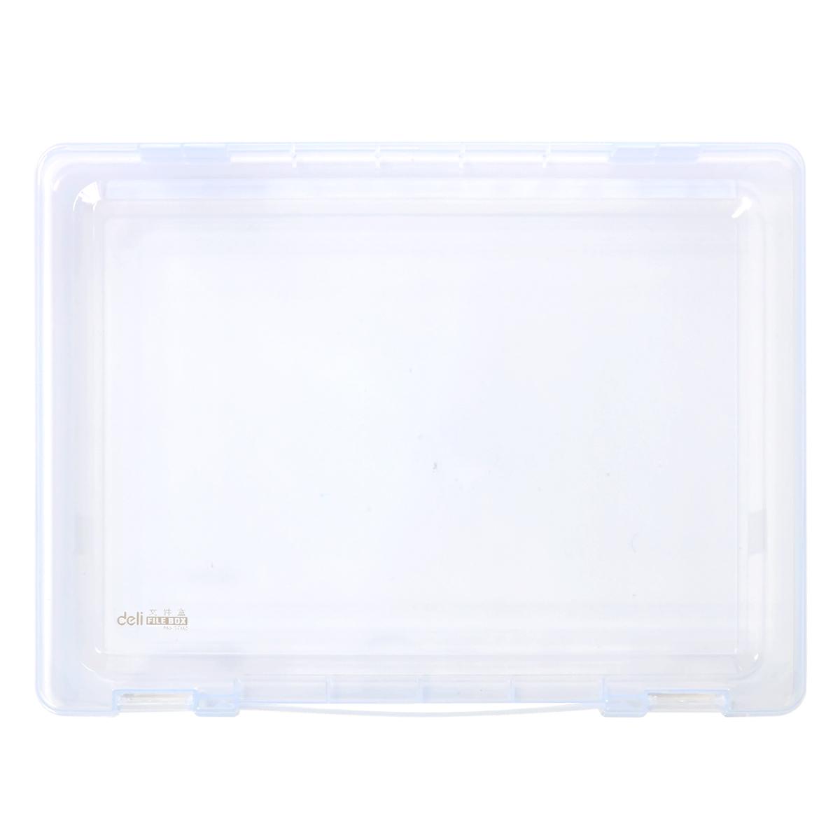 得力 5702 文件盒A4 (单位:只) 透明