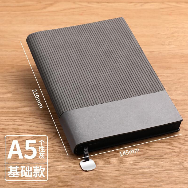 木雷(MUULEE)A5-个性灰商务软皮面笔记本(个)