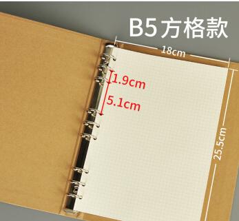 博采活页笔记本替芯B5 /9孔 90张(单位:本)