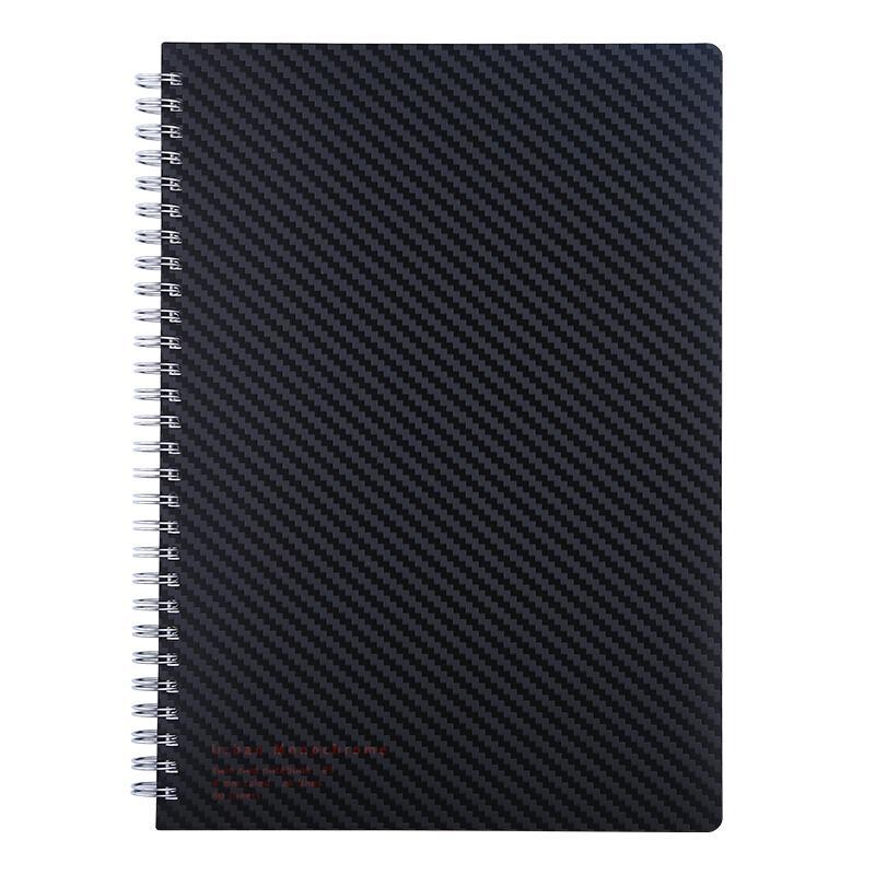 国誉WSG-SNUB580D都市印象双螺旋装订笔记本子/记事本B5/80页黑色2本装(件)