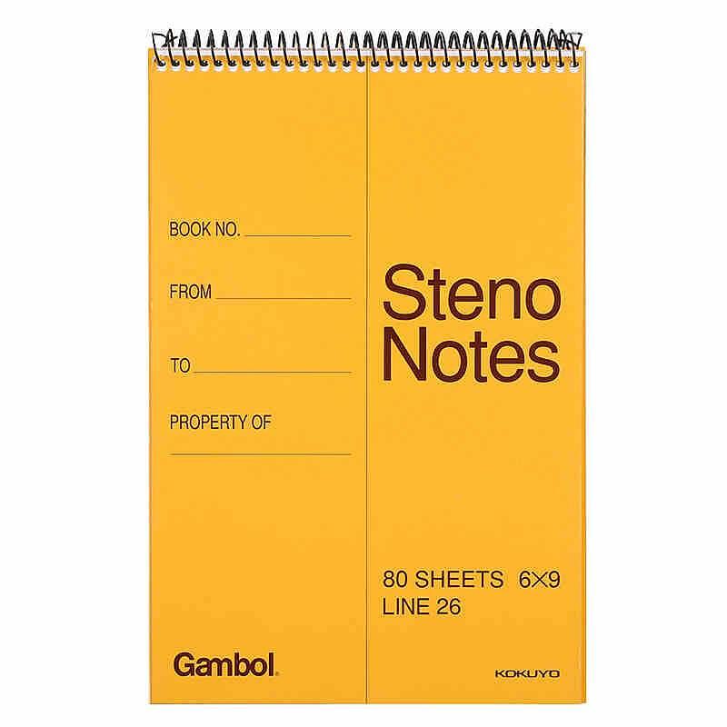国誉Gambol系列 WCN-S6090竖翻笔记本 A5 80页速写本 6本/包 (单位:包)