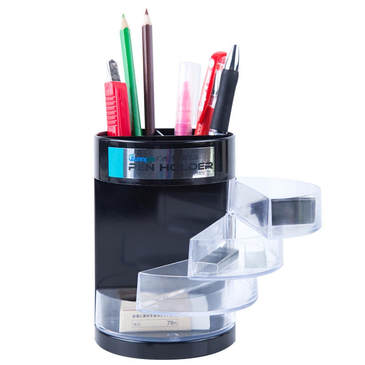 广博 WZ5925 多功能笔筒 87*130mm (单位:只) 黑色