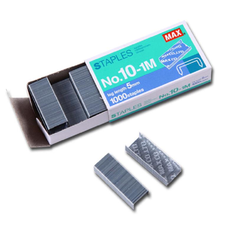 美克司(MAX)进口10#订书钉 高5mm宽8.4mm订书针 10-1M 20包/盒