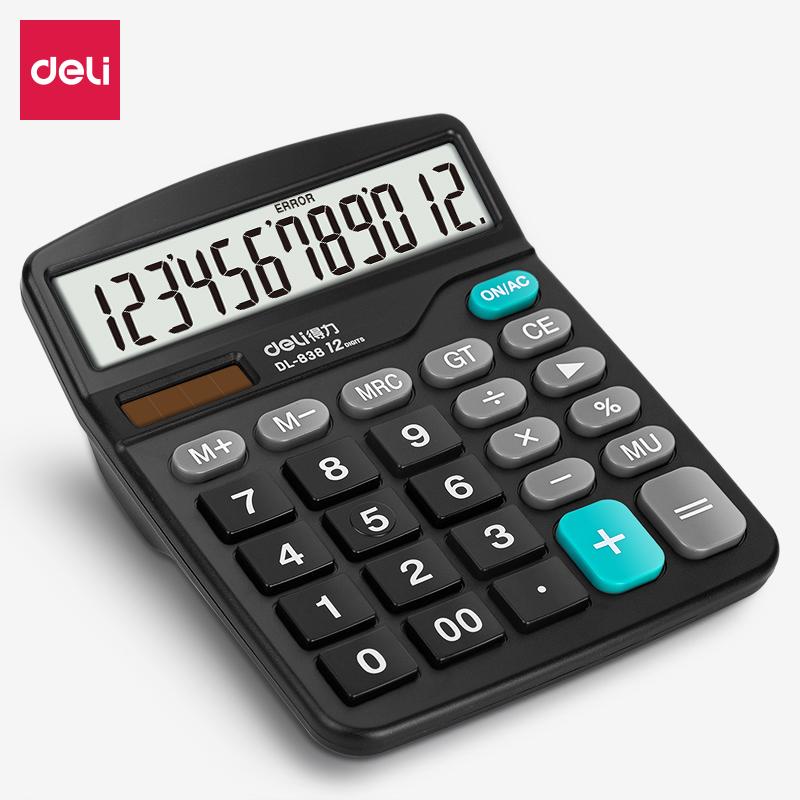 得力 0838 桌面计算器 (单位:台) 黑色