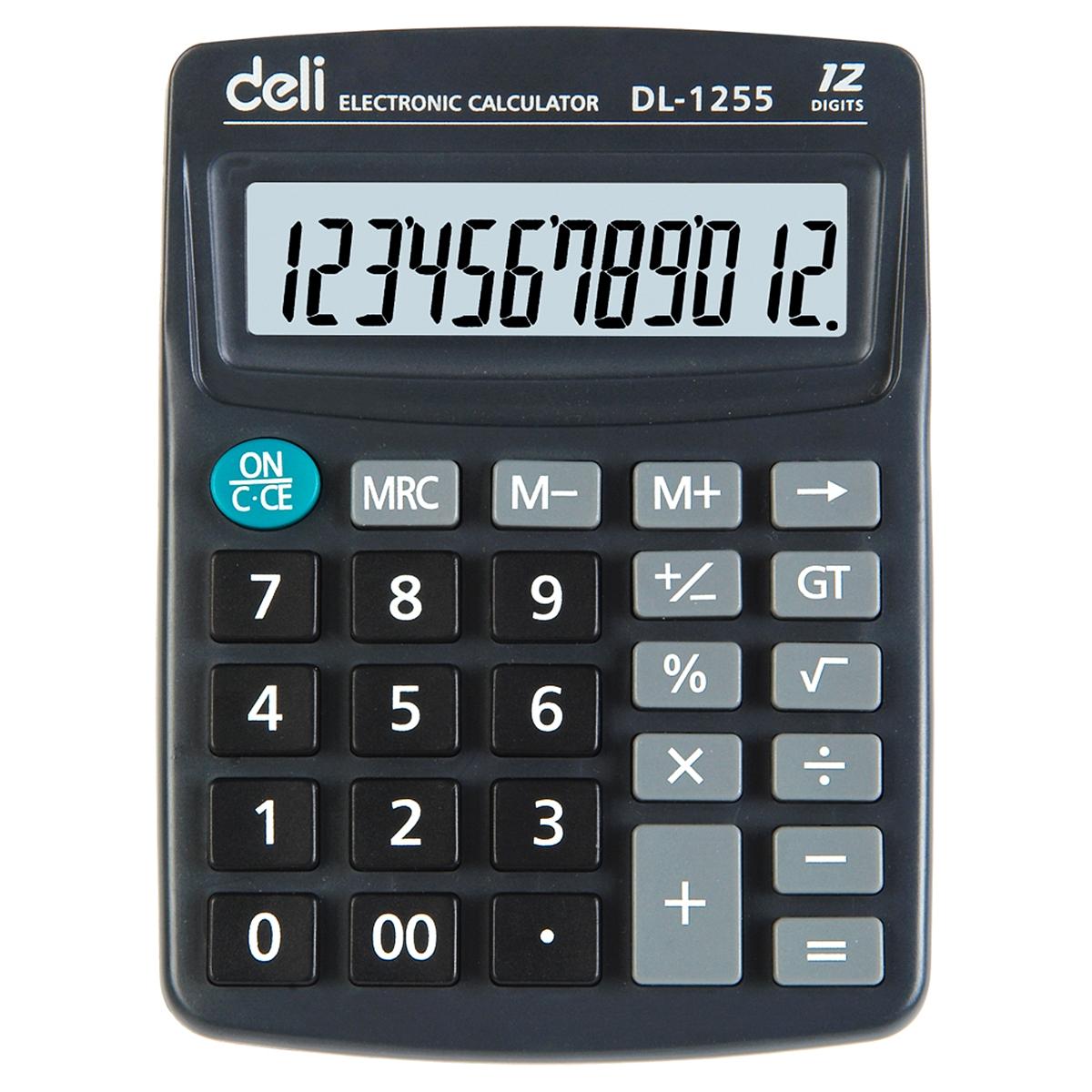 得力1255桌面计算器(深灰) 普通计算器
