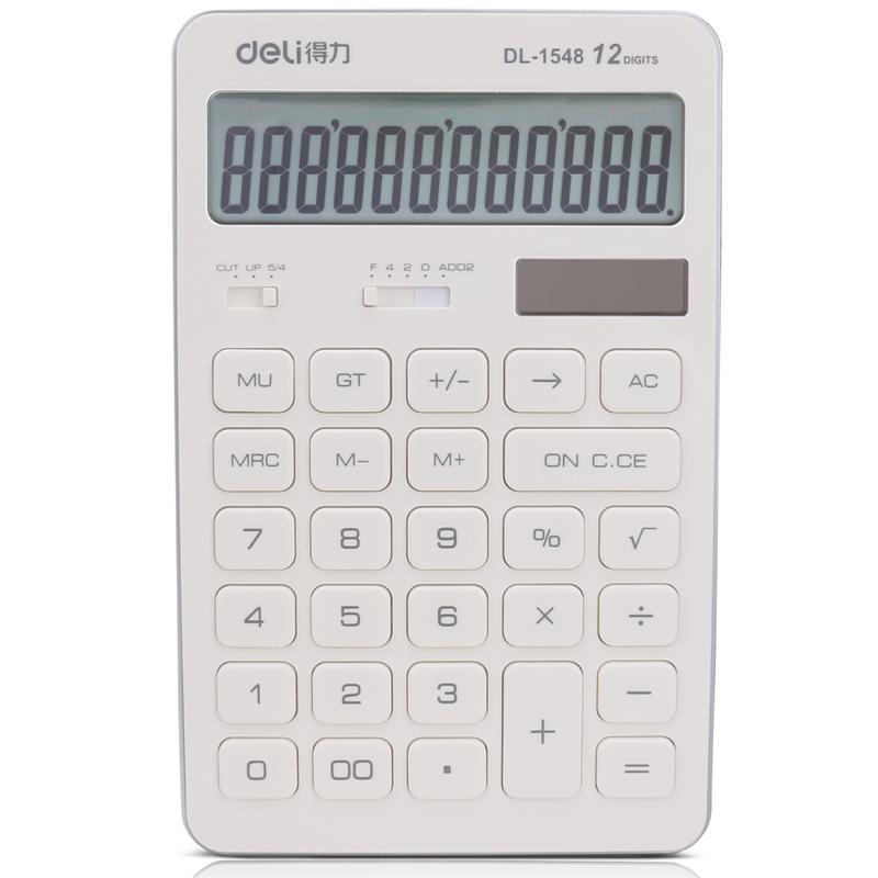 得力 1548A 计算器普通计算器 170x108x15mm (单位:台) 白色