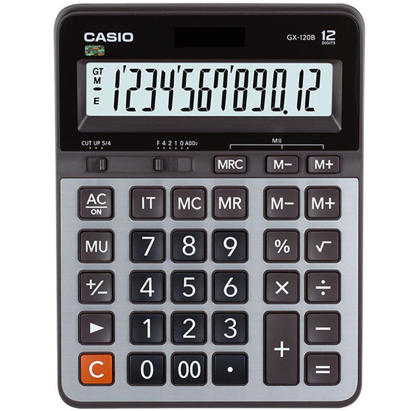 卡西欧 GX-120B 计算器 (单位:个) 灰