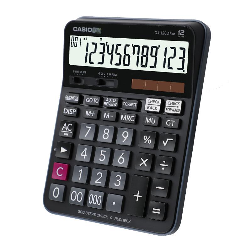 卡西欧DJ-120D PLUS 黑色计算器(单位:台)