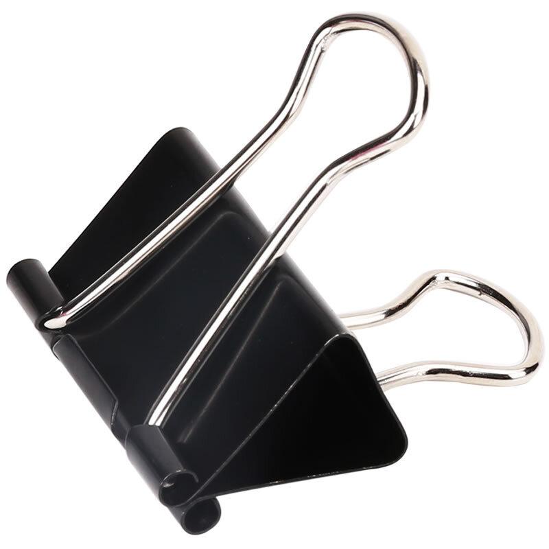 得力9541-1#长尾票夹50mm盒装(黑)(12只/盒)(盒)