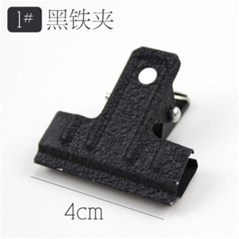 上海牌1号加厚黑色票夹40mm 10个(盒)