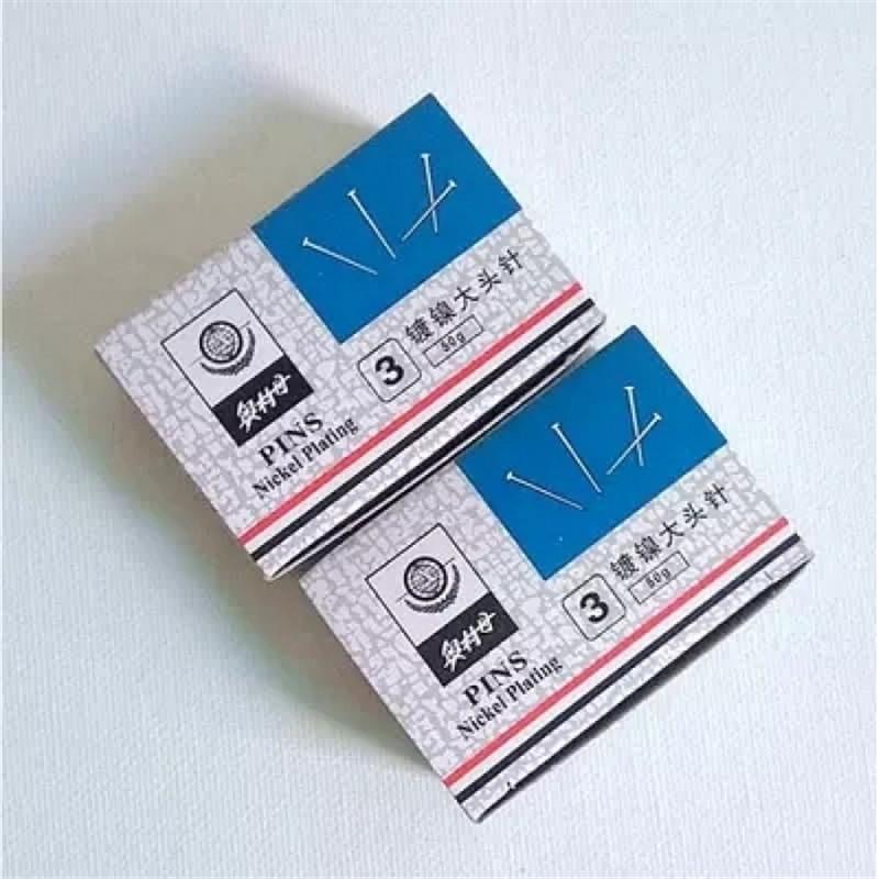 奥林丹1148-05 3号金属镀镍大头针(盒)