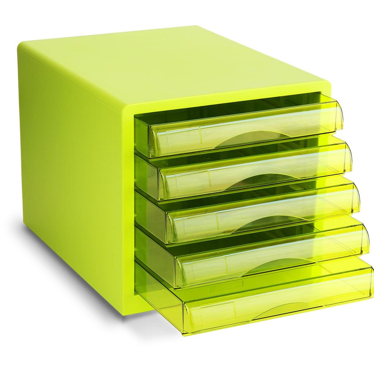 得力 9777 五层桌面文件柜 275x340x260mm (单位:只) 绿