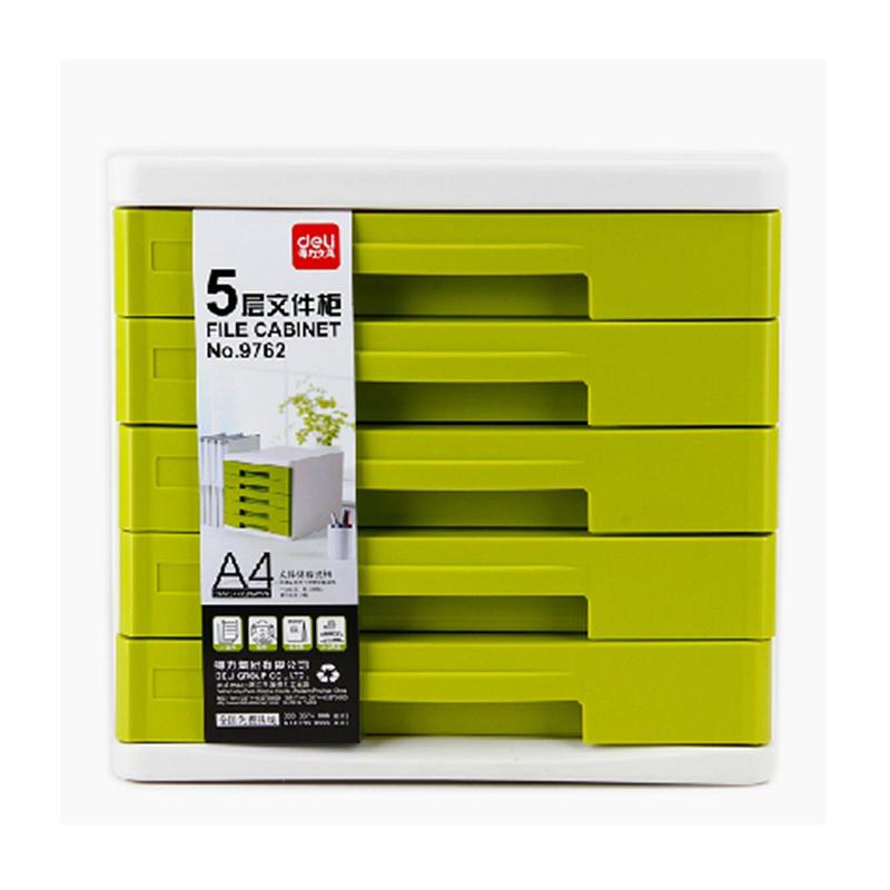 得力 9762 五层文件柜桌面文件柜 265x344x349mm (单位:只) 绿色