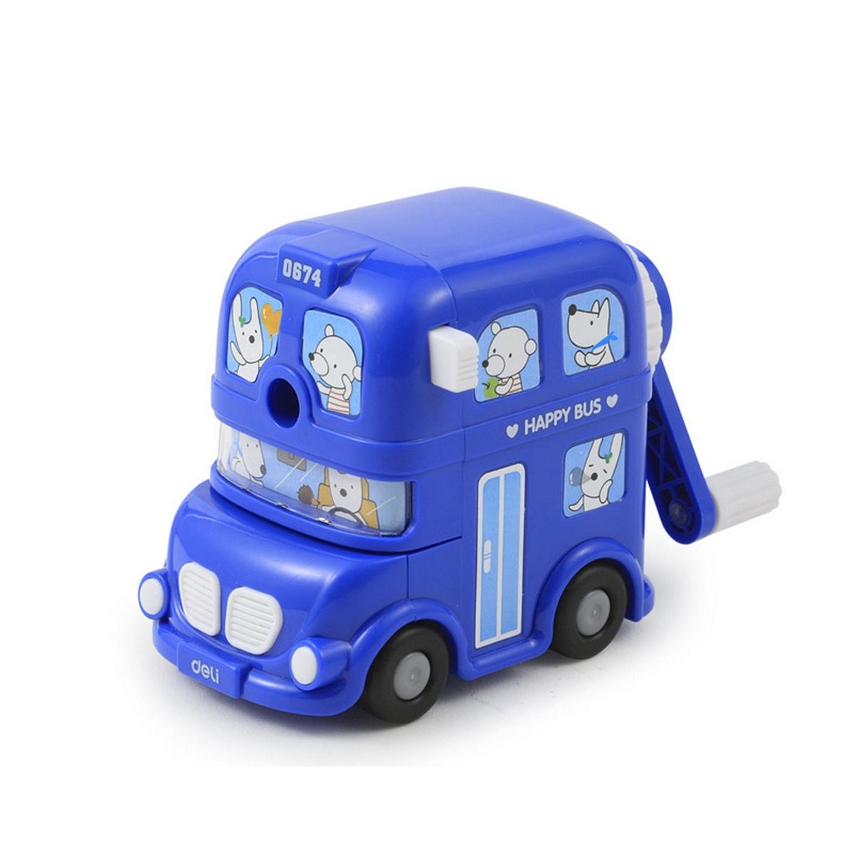 得力优酷 0674 伦敦巴士削笔机 (单位:只) 混色