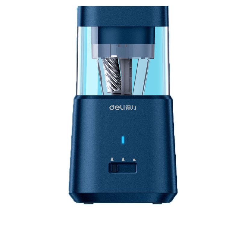 得力71205大口径电动削笔机(珠光蓝)(只)