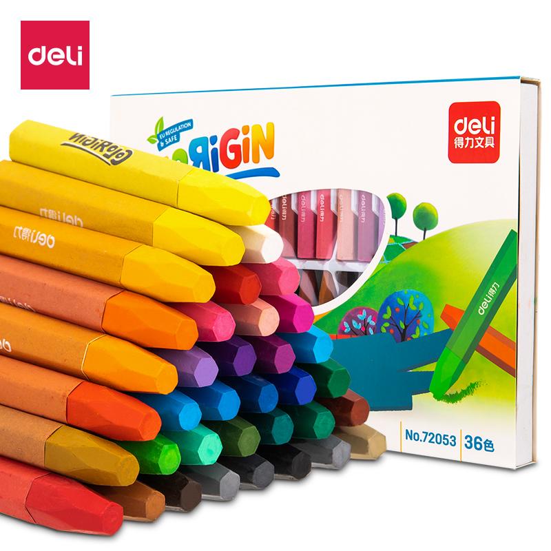 得力 72053 油画棒(混) (36色/盒) (单位:盒)